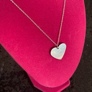 """NEW MEGA SIZE Heart Necklace 24"""" L Sterling Silver"""